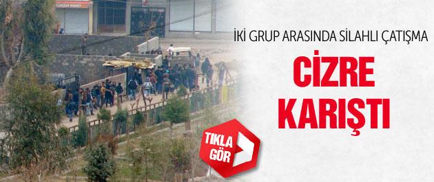 Cizre'de PKK-Hüda Par arasında silahlı çatışma