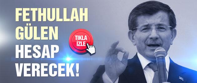 Davutoğlu'ndan Fethullah Gülen sloganına ilginç yanıt!
