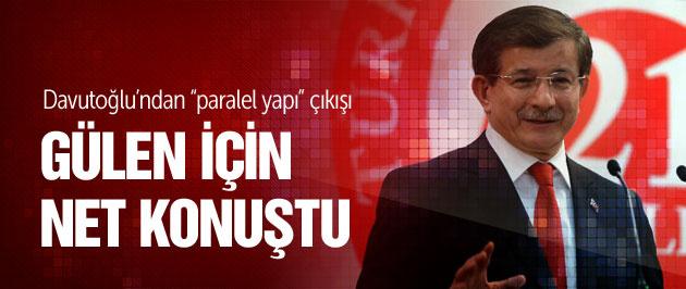 Davutoğlu Fethullah Gülen için net konuştu!