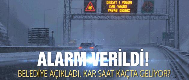 İstanbul kar alarmına geçti okullar tatil mi?