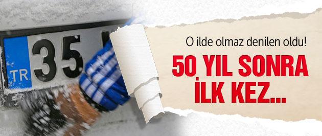 İzmir kara kışa teslim! Tam 50 yıl sonra ilk kez...