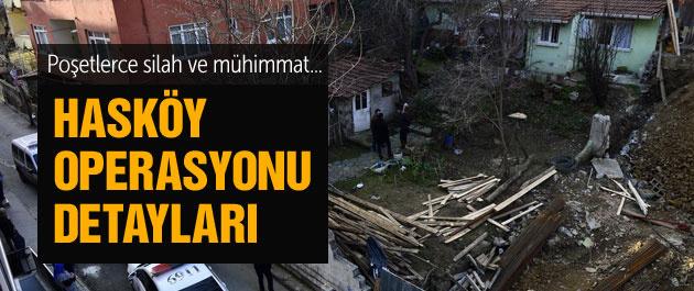 Hasköy'de gecekonduda silah ve mühimmat bulundu