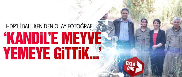 HDP'den olay Kandil ziyareti fotoğrafı Meyve yediler!