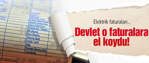 Devlet elektrik faturalarına el koydu!