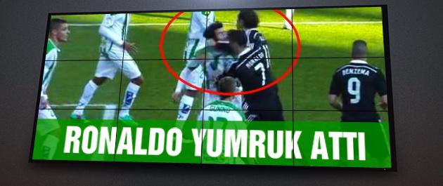2 yumruk 1 tekme ve Ronaldo atıldı