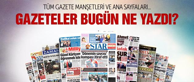 Gazete manşetleri 26 Ocak 2015