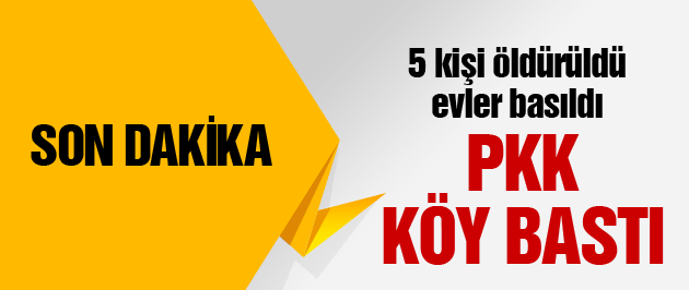 PKK köy bastı 5 kişiyi öldürdü iddiası