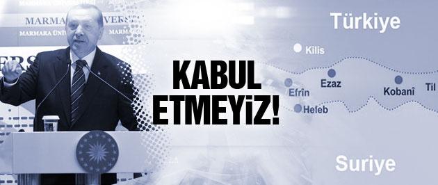 Erdoğan'dan Kobani açıklaması:Kabul etmeyiz!