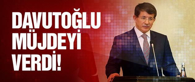 Davutoğlu'ndan vatandaşa müjde!