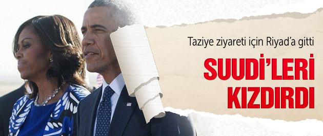 Obama Suudileri kızdırdı
