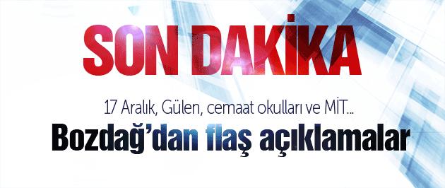 Adalet Bakanı Bekir Bozdağ'dan son dakika açıklamaları