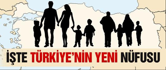Türkiye'nin nüfusu son dakika açıklandı