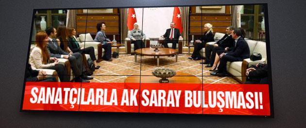 Erdoğan Sanatçılarla AK Saray'da buluştu!