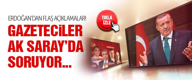 Erdoğan TRT'de gazetecilerin sorularını yanıtlıyor...