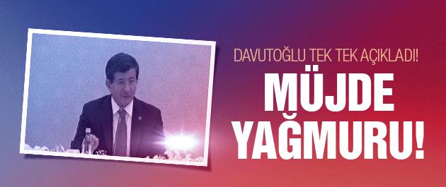 Başbakan Davutoğlu'ndan beşi bir yerde müjde!