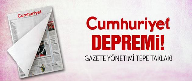 Cumhuriyet gazetesinde deprem!