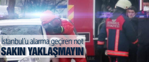 İstanbul'u alarma geçiren not!