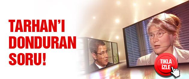 Emine Ülker Tarhan'ın donup kaldığı an!