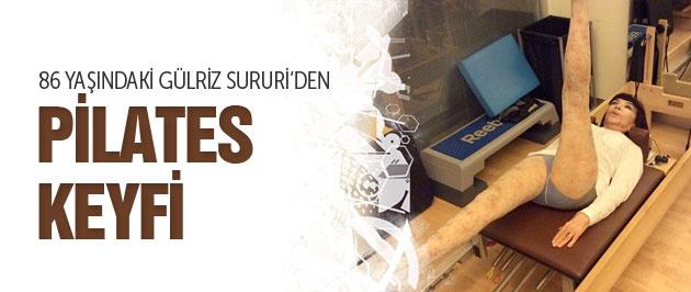 86 yaşındaki Gülriz Sururi'nin pilates keyfi