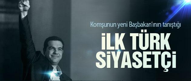 Yunanistan Başbakanı Çipras'ın tanıştığı ilk Türk siyasetçi