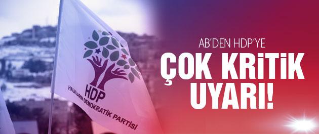 2015 genel seçimleri için AB'den HDP'ye uyarı