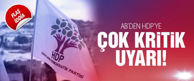 2015 genel seçimleri için AB'den HDP'ye uyarı iddiası