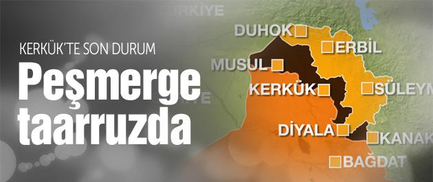 Kerkük'te son durum Peşmerge taarruza geçti