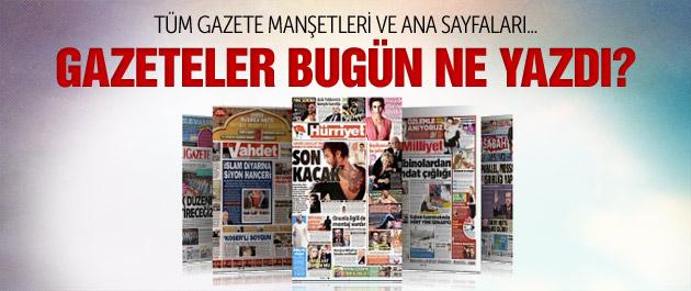 Gazete manşetleri 1 Şubat 2015