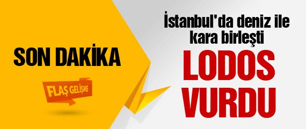İstanbul'da korkutan lodos dehşeti!