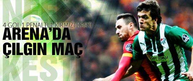 Galatasaray-Bursaspor maç sonucu ve özeti (2-2)