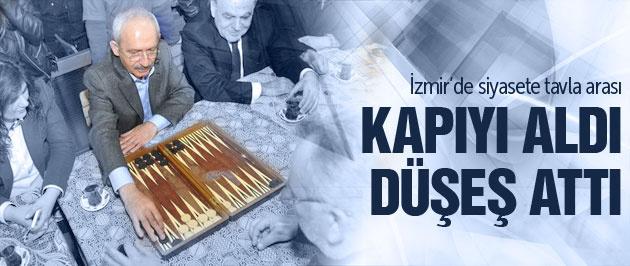 Kılıçdaroğlu İzmir'de tavla oynadı!