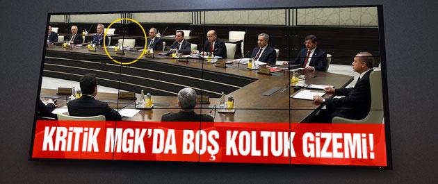 MGK toplantısındaki boş koltuğun sahibi kim?
