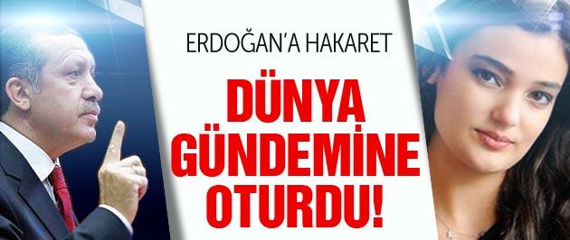 Erdoğan'a hakaret dünya gündemine oturdu!