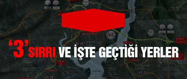 İstanbul'a 3 katlı tüp geçit nereden geçiyor?