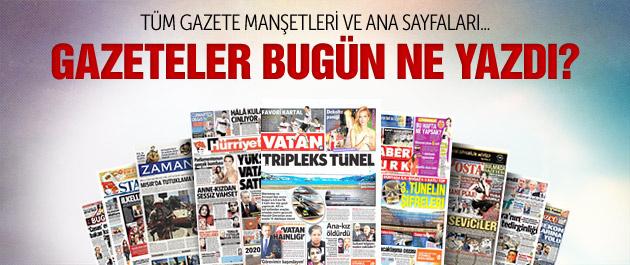 Gazete manşetleri 28 şubat 2015