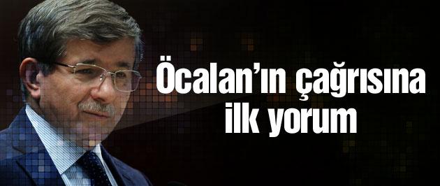 Başbakan Davutoğlu Öcalan'ın PKK'ya çağrısını değerlendirdi