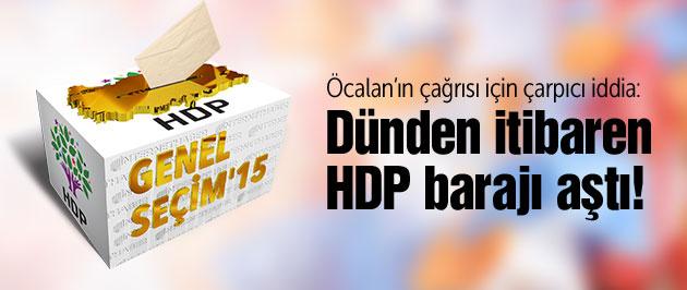 HDP silahsızlanma çağrısı ile barajı aştı!