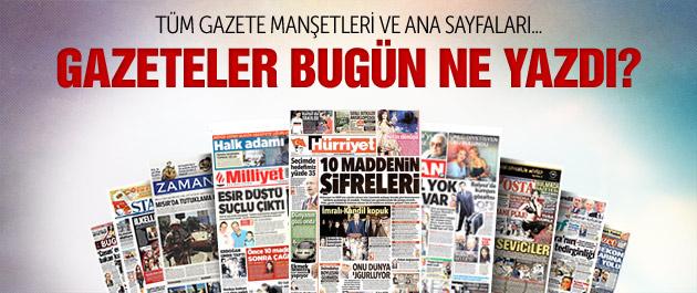 Gazete manşetleri 2 Mart 2015