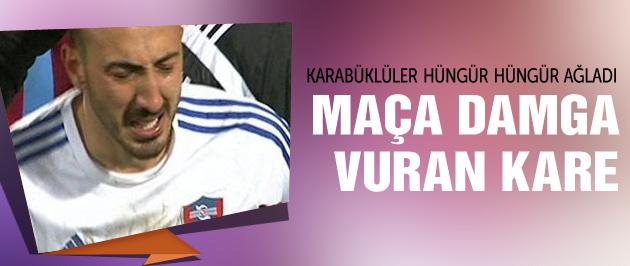 Karabüksporlu futbolcular ağladı