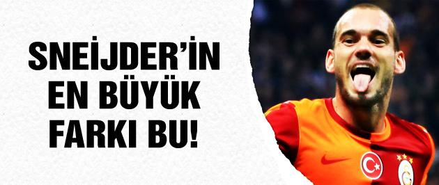 Sneijder'in en büyük farkı bu!