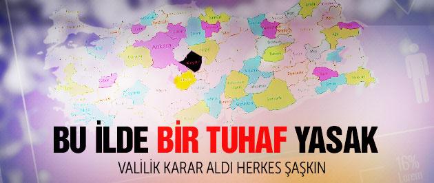 Kırşehir'de eşi benzeri görülmemiş yasak
