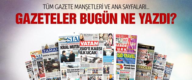 Gazete manşetleri 4 mart 2015