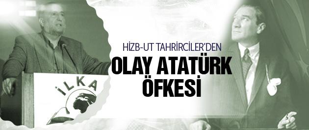 Hizb-ut Tahrirciler Atatürk posterine dayanamadı!