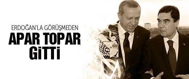 Erdoğan'la görüşmeden apar topar ülkesine döndü