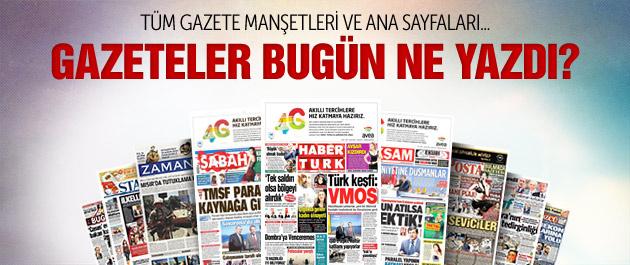 Gazete manşetleri 5 Mart 2015