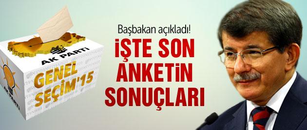 2015 genel seçimleri sonuçları Davutoğlu açıkladı