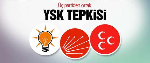 YSK kararına AK Parti, MHP ve CHP'den ortak tepki