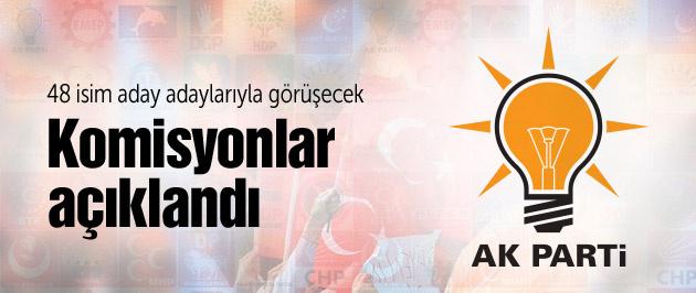 AK Parti'de komisyonlar belli oldu