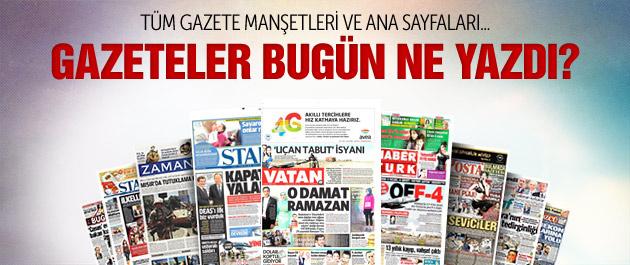 Gazete manşetleri 6 Mart 2015