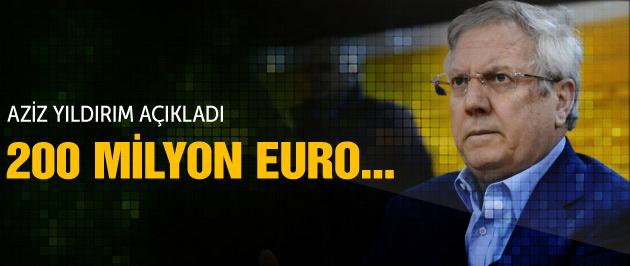 Aziz Yıldırım açıkladı: 200 milyon euro...